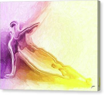 Icarus Near The Sun Canvas Print by Joaquin Abella
