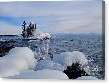 Ice And Blues Canvas Print by Sandra Updyke