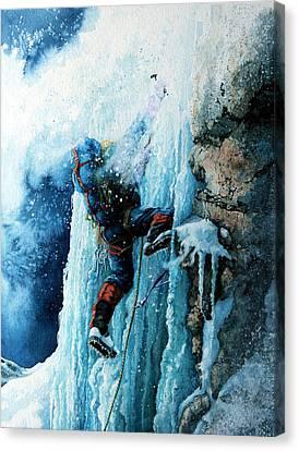 Ice Climb Canvas Print by Hanne Lore Koehler