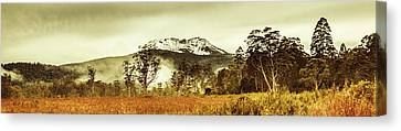 Ice Covered Mountain Panorama In Tasmania Canvas Print by Jorgo Photography - Wall Art Gallery