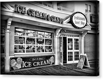 Ice Cream And Candy Shop At The Boardwalk - Jersey Shore Canvas Print by Angie Tirado
