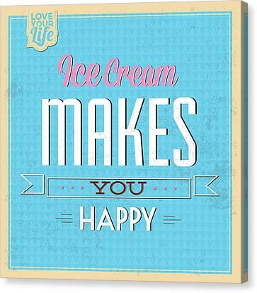 Ice Cream Canvas Print by Naxart Studio