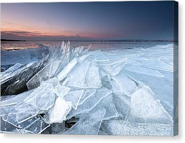 Ice Canvas Print by Evgeni Dinev