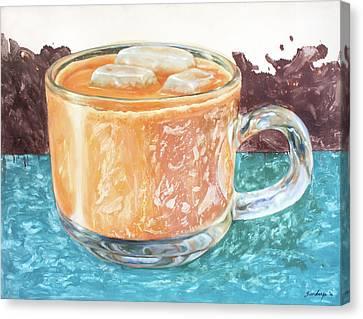 Ice Tea Canvas Print by Sandy
