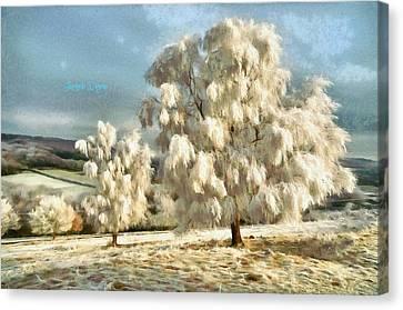 Ice Three - Da Canvas Print by Leonardo Digenio