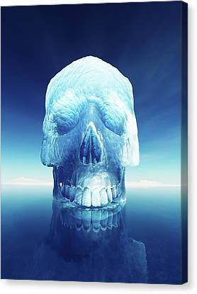 Iceberg Dangers Canvas Print by Johan Swanepoel