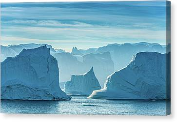 Iceberg View - Greenland Travel Photograph Canvas Print by Duane Miller