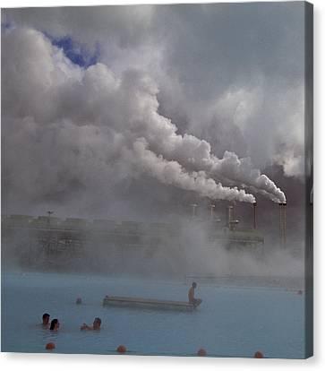 Iceland, Blue Lagoon, Grindavik, People Canvas Print by Keenpress