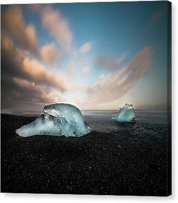 Iceland Glacial Ice Canvas Print by Larry Marshall