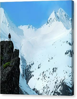 Iceland Snow Covered Mountains Canvas Print by Larry Marshall