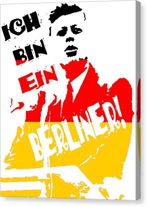 Ich Bin Ein Berliner Canvas Print by Jera Sky