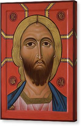 Icon Of Christ With The Golden Hair Canvas Print by Phil Davydov