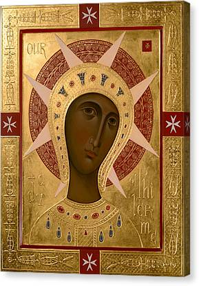 Icon Of Our Lady Of Filermo. Canvas Print by  Olga Shalamova