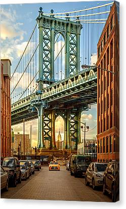 Iconic Manhattan Canvas Print by Az Jackson
