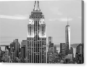 Iconic Skyscrapers Canvas Print by Az Jackson