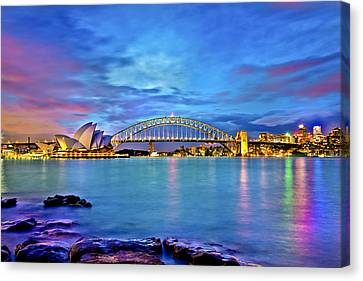 Icons Of Sydney Harbour Canvas Print by Az Jackson