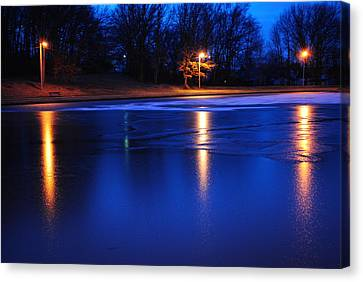 Icy Glow Canvas Print by Frozen in Time Fine Art Photography