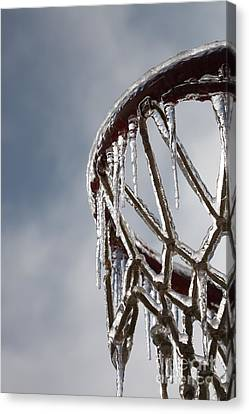 Icy Hoops Canvas Print by Nadine Rippelmeyer