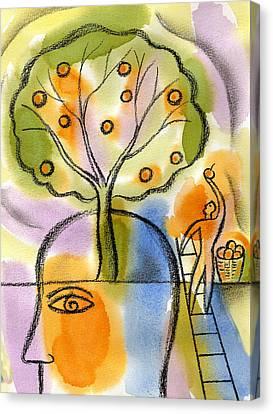 Idea Canvas Print by Leon Zernitsky