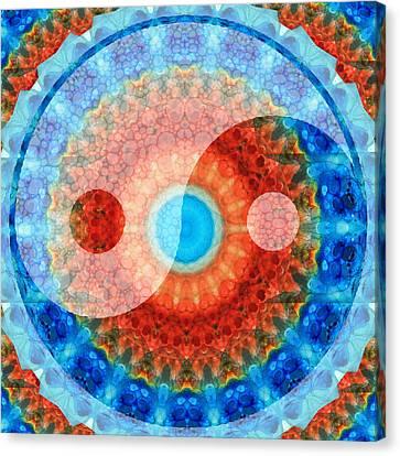 Ideal Balance Yin And Yang By Sharon Cummings Canvas Print by Sharon Cummings