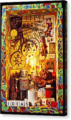 Ideas Canvas Print by Garry Gay