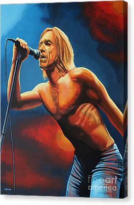 Iggy Pop Painting Canvas Print by Paul Meijering