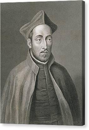 Ignatius Of Loyola Canvas Print by W Holl