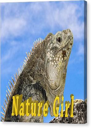 Iguana Nature Girl Canvas Print by LeeAnn McLaneGoetz McLaneGoetzStudioLLCcom