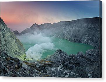Ijen Crater Canvas Print by Alexey Galyzin
