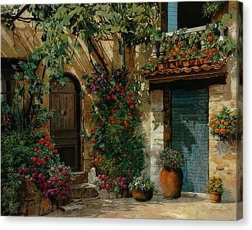 Il Giardino Francese Canvas Print by Guido Borelli