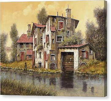 Il Mulino Giallo Canvas Print by Guido Borelli
