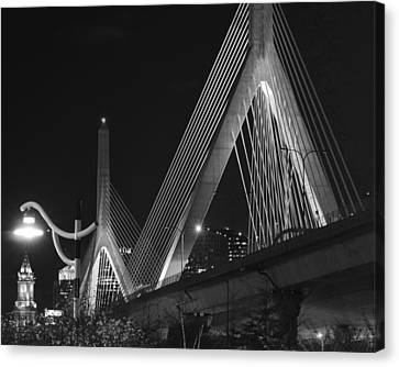 Illuminating Boston Black And White Canvas Print by Toby McGuire