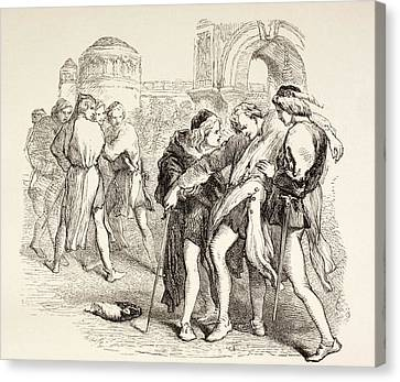 Illustration From Romeo And Juliet By Canvas Print by Vintage Design Pics