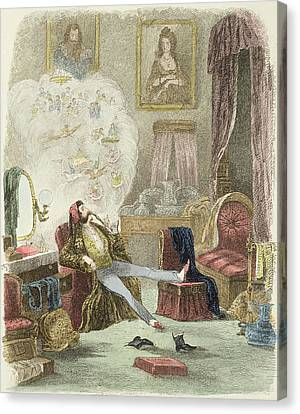 Illustration From Visitation Of A London Exquisite To His Maiden Aunts In The Country Canvas Print by Theo