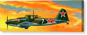 Ilyushin II 2m3 Russian Ground Attack Aircraft Canvas Print by Wilf Hardy