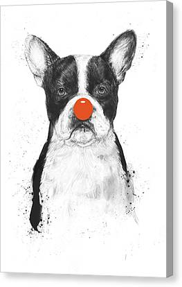 I'm Not Your Clown Canvas Print by Balazs Solti