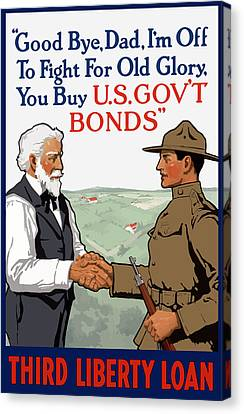 I'm Off To Fight For Old Glory - Ww1 Canvas Print by War Is Hell Store