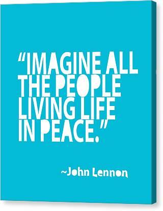 Imagine In Blue Canvas Print by Cindy Greenbean