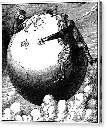 Imperialism Cartoon, 1876 Canvas Print by Granger