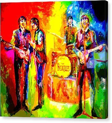 Impressionistc Beatles  Canvas Print by Leland Castro