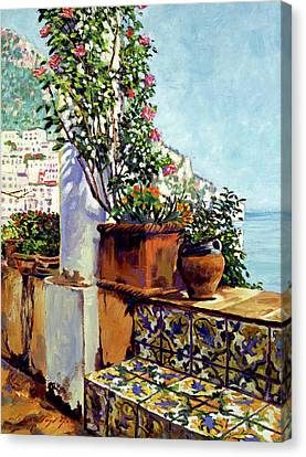 Impressions Of The Riviera Canvas Print by David Lloyd Glover