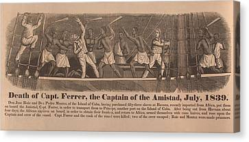 In 1839 Fifty-four African Captives Canvas Print by Everett