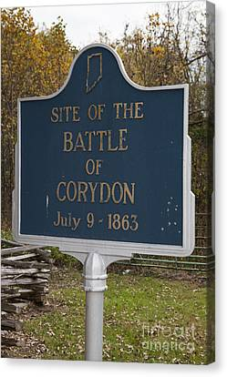 In-31.1963.1 Site Of The Battle Of Corydon July 9, 1863 Canvas Print by Jason O Watson