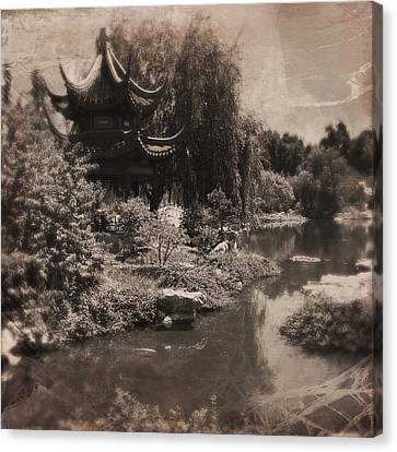 In A Chinese Garden Canvas Print by Judith Kitzes