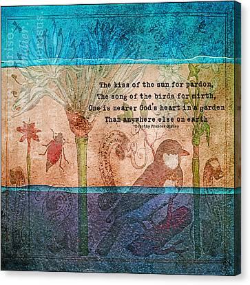 In A Garden Canvas Print by Bonnie Bruno