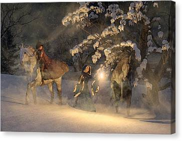 In A Land Far Far Away Canvas Print by Betsy Knapp