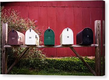 In A Row Canvas Print by Parker Cunningham