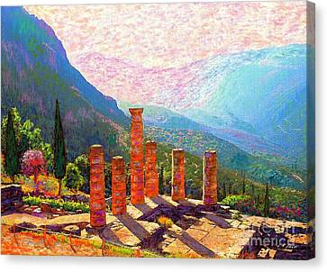 In Awe Of Delphi Canvas Print by Jane Small