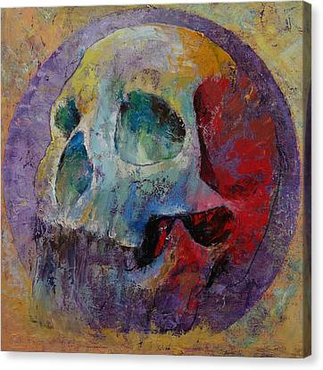 Vintage Skull Canvas Print by Michael Creese