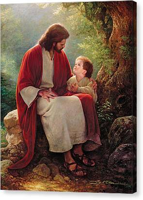 In His Light Canvas Print by Greg Olsen